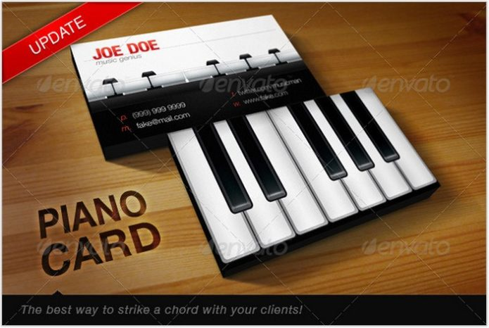 Piano Teacher Card