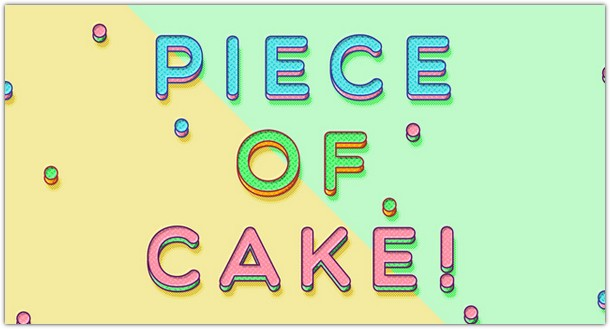 Piece of Cake Psd Text Effect