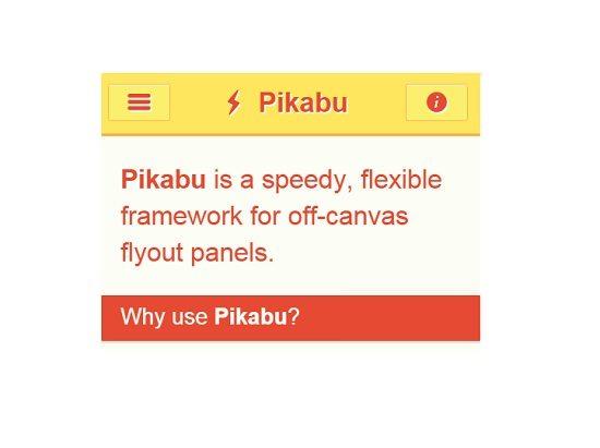 Pikabu Off-Canvas flyout menu