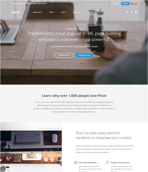 Pivot Multi-Purpose HTML with Page Builder
