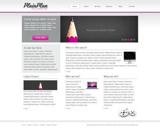 PlainPlan - Free Template