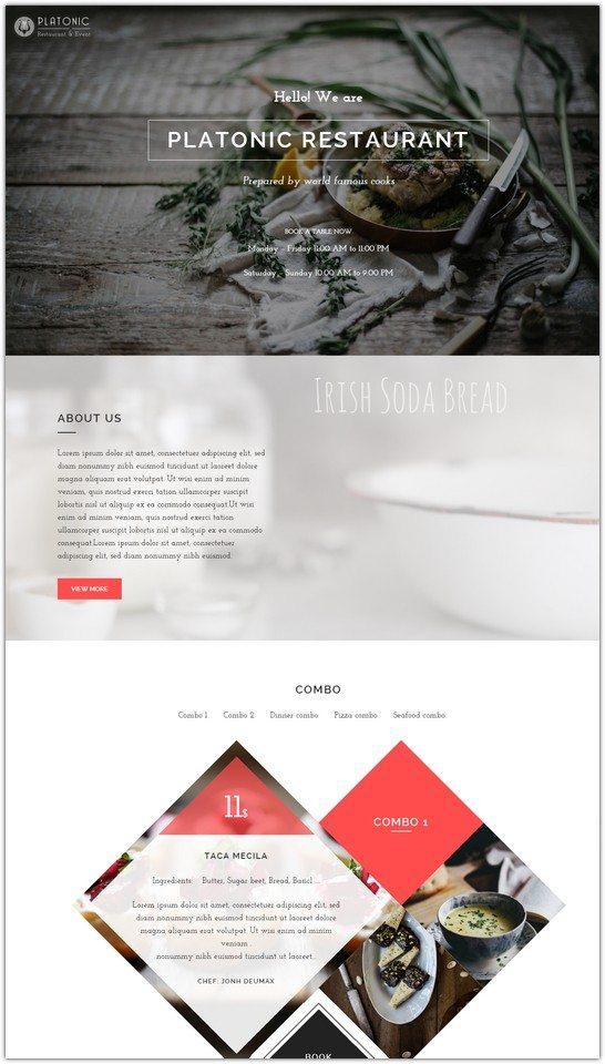 Platonic - Restaurant & Event WordPress Theme