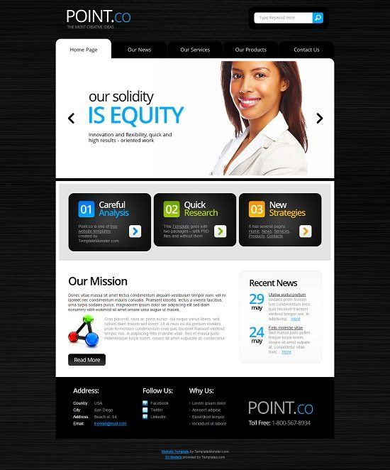 Point – Free Consulting HTML5 Website Template