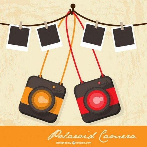 Polaroid-camera-retro-vector