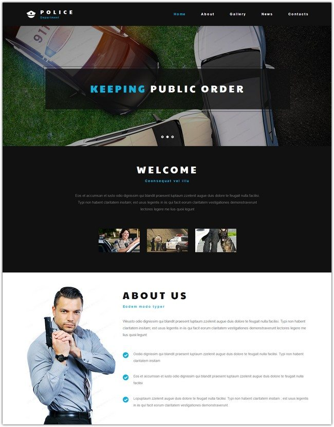 Police Entity Website Template