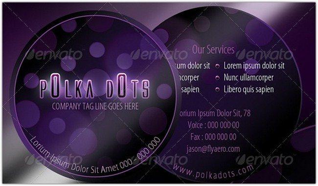 Polka Dots Business Card
