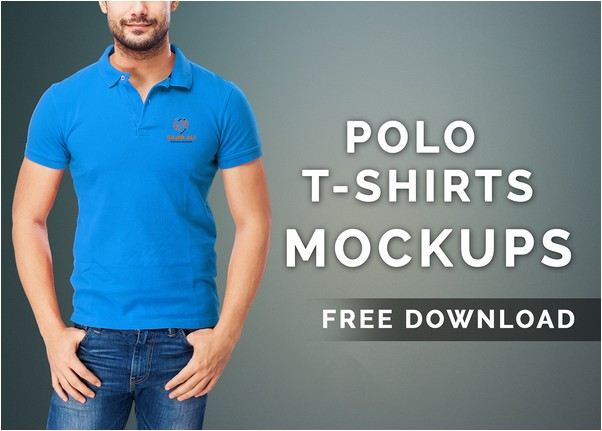 Polo T-shirts Mock-up