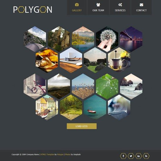 Polygon HTML5 Template