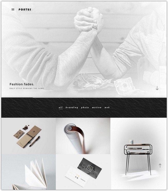 Pontus - Creative Portfolio Agency Template