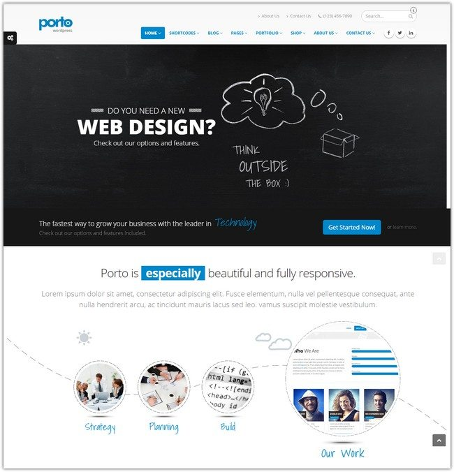 Porto Responsive WordPress + WooCommerce Theme