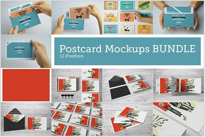 Postcard BUNDLE Mock-Ups