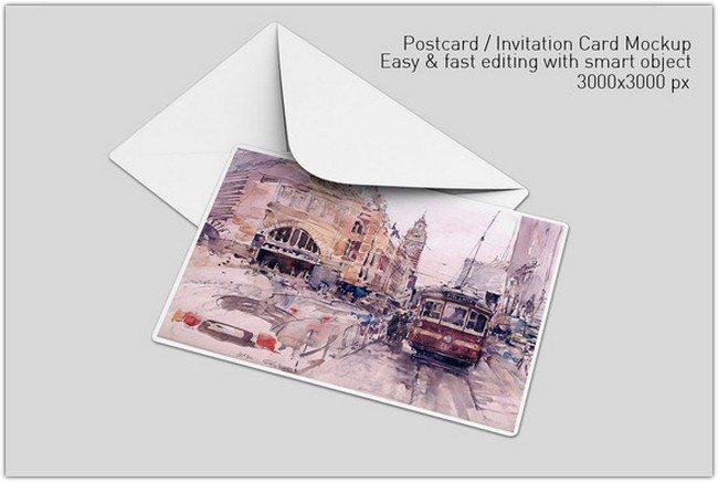 Postcard Invitation Card