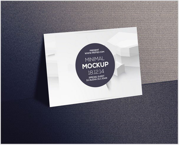 Postcard & Invitation Mockup Psd