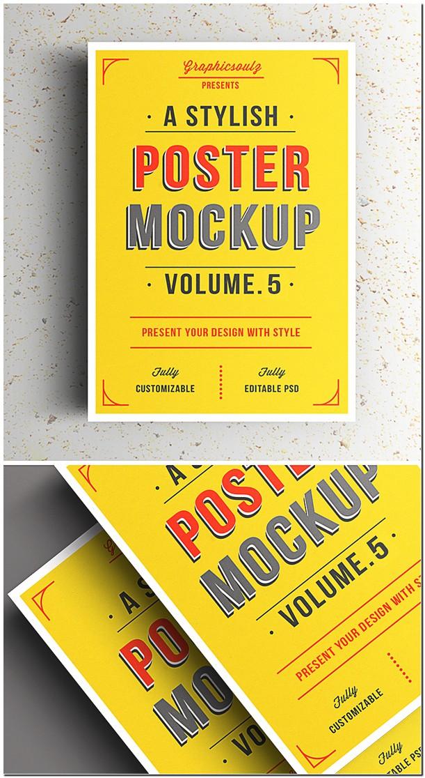 Poster Display Mockup