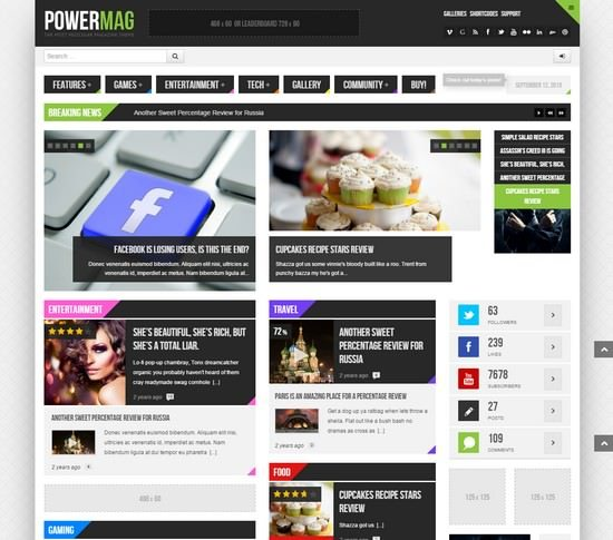 PowerMag The Most Muscular Magazine Reviews Theme