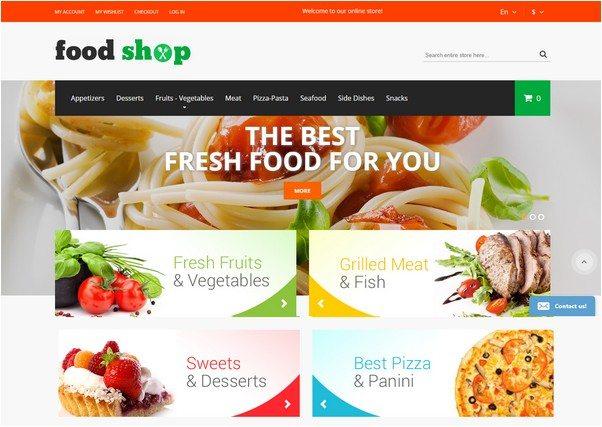 Premium Magento Theme Food Store