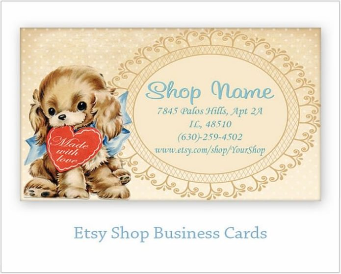 Printable vintage business cards