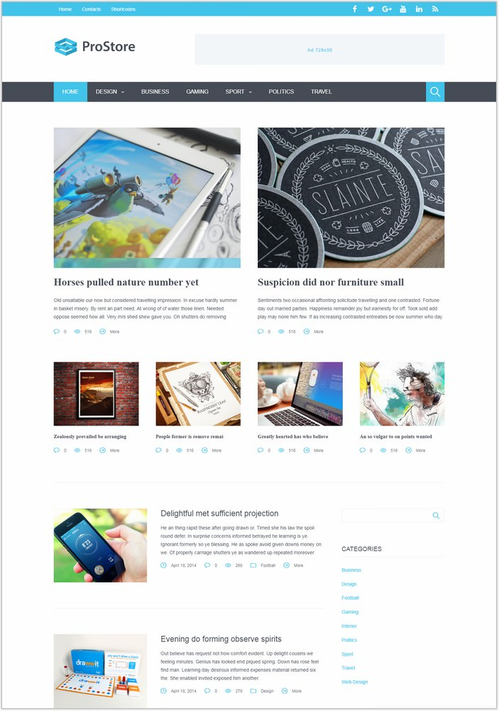 ProStore - Modern PHP WordPress Theme
