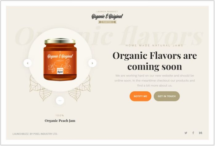 Product Launch- Single Page Examples