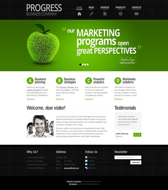Progress Free Business Consulting Website Template