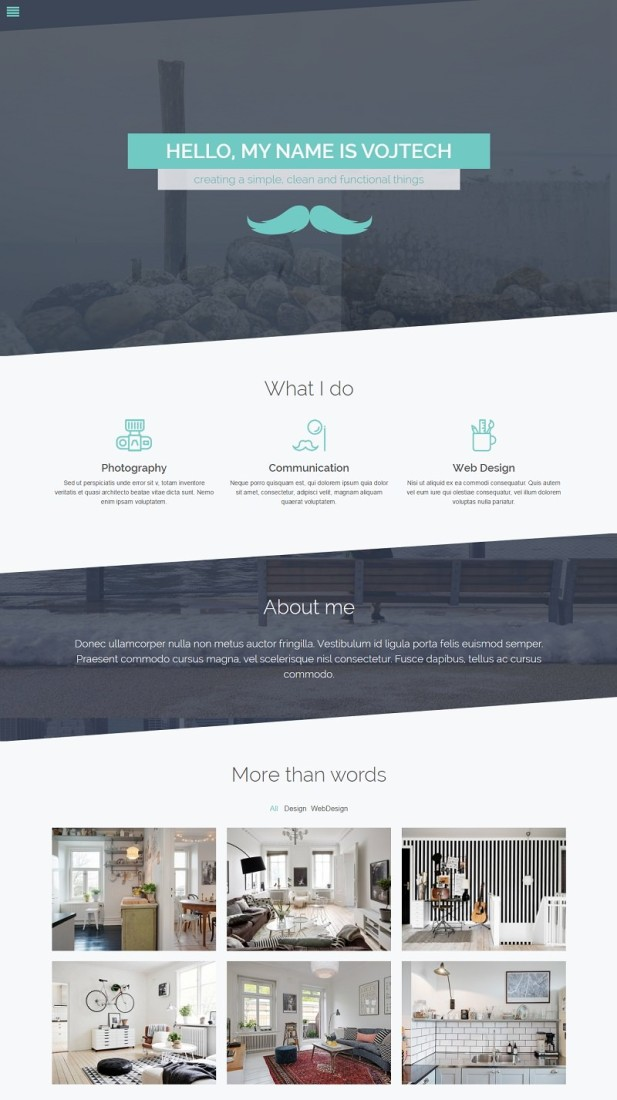 Pure – Portfolio WordPress Theme