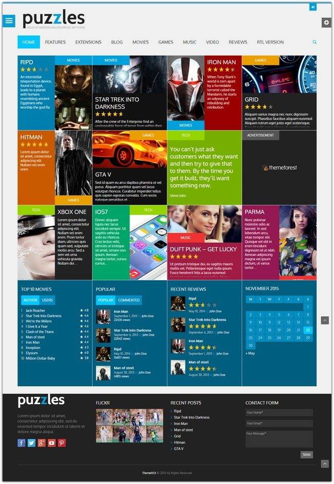 Puzzles WordPress Magazine Review with WooC
