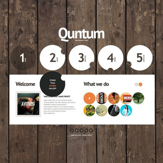 QUNTUM Design Studio Website Template