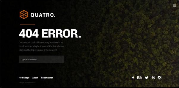 Quatro 404 Page