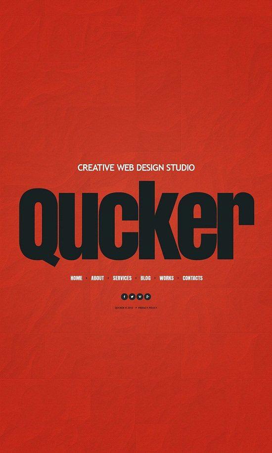 Qucker Design Studio Website Template