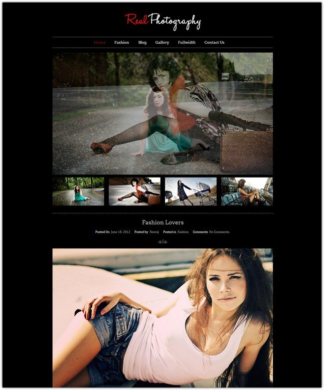 REAL PHOTOGRAPHY - CLASSIC WORDPRESS THEME FOR PHOTOGRAPHY