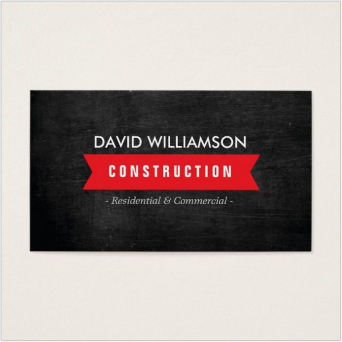 RED BANNER CONSTRUCTION BUSINESS CARD