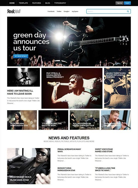 ROCKWALL MUSIC JOOMLA TEMPLATE