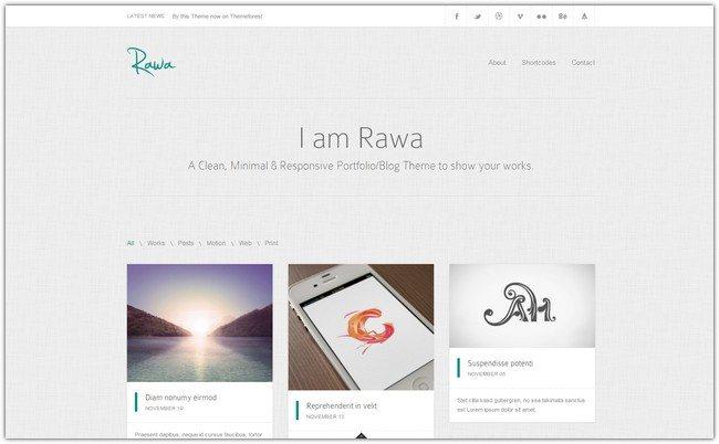 Rawa - Clean Responsive Minimal HTML5