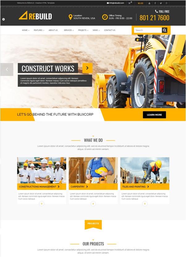 ReBuild - Construction & Renovation HTML Template