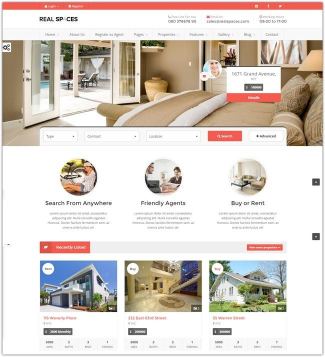 Real Spaces - Responsive Real Estate Template