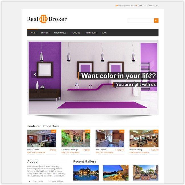 Realbroker - WordPress Real Estate