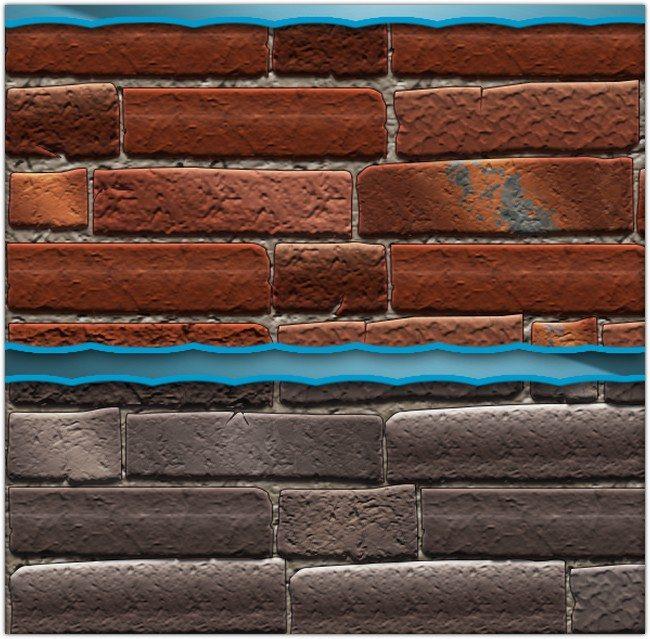 Realistic Brick Pattern