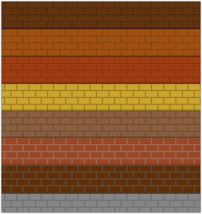 Realistic Brick Photoshop Patterns