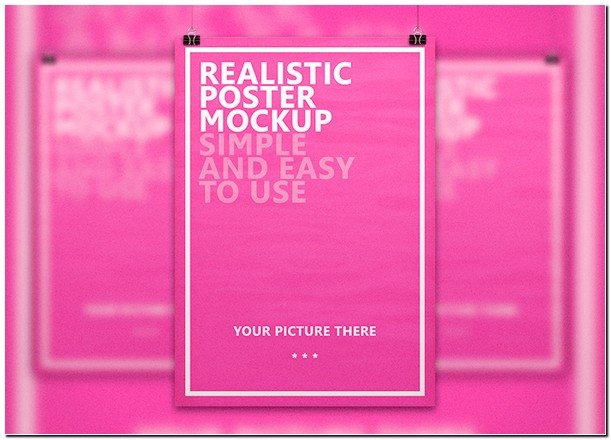 Realistic Poster Mockup
