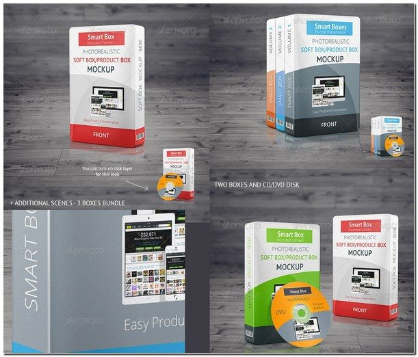 Realistic Smart Box Product Mock-Up Vol.2