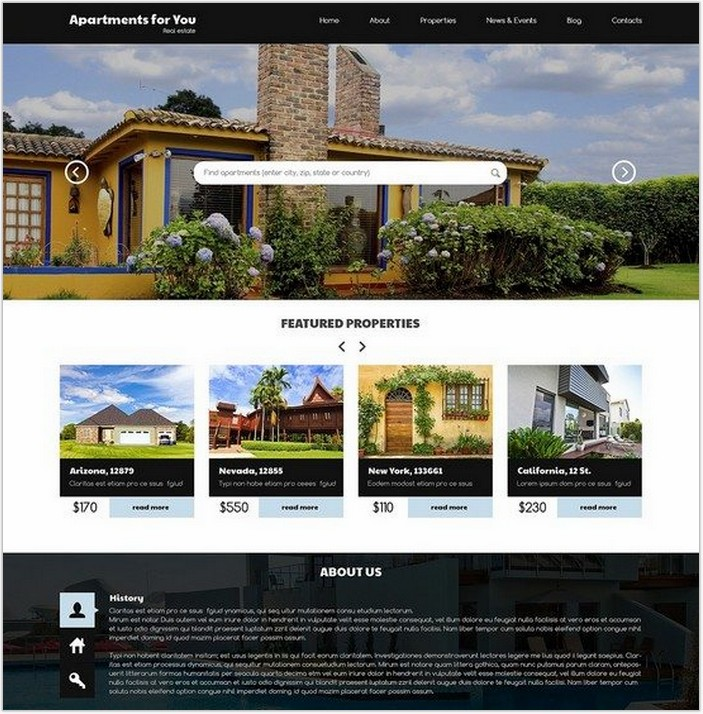 Real Estate WordPress Themes Free