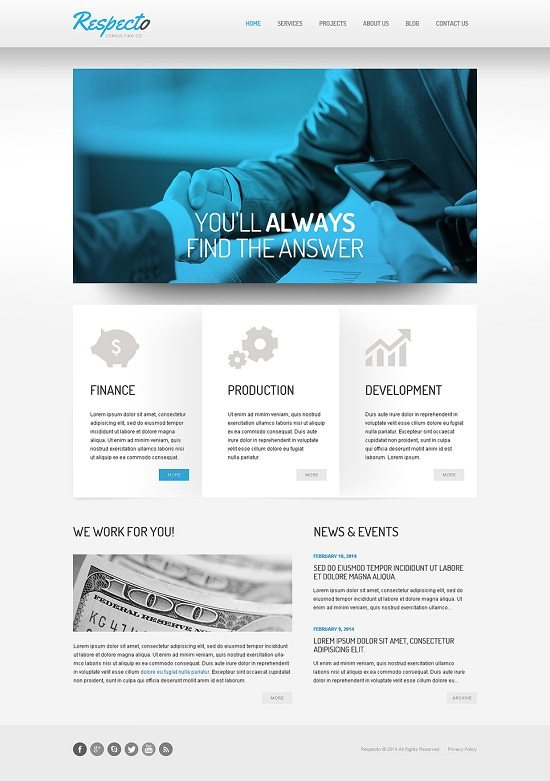 Respecto Consulting Responsive Website Template