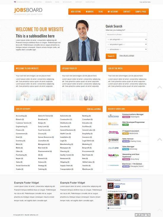 Responsive Job Board for WordPress Theme