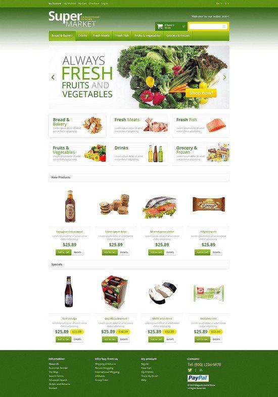 Responsive Supermarket Magento Theme
