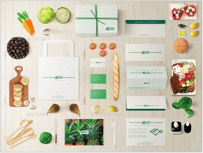 Restaurant Food Market Identity Branding Mockups