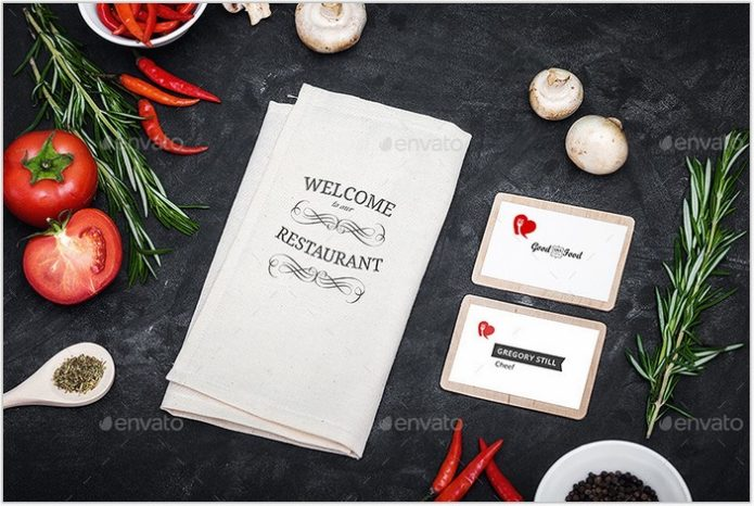Restaurant Identity Branding Mock-Up # 2