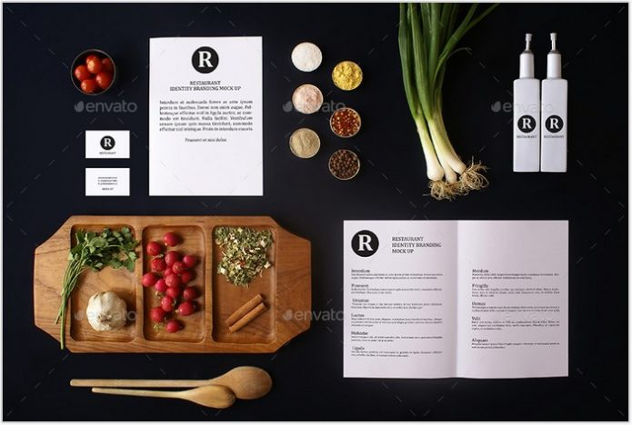 Restaurant Identity Branding Mock-Up # 3
