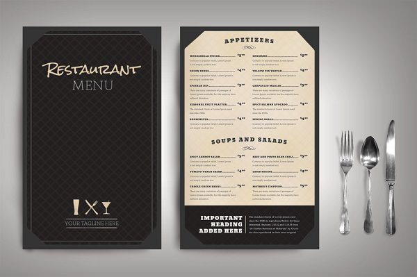 Restaurant Menu Classic Package