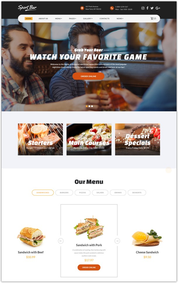 Restaurant Multipage Website Template