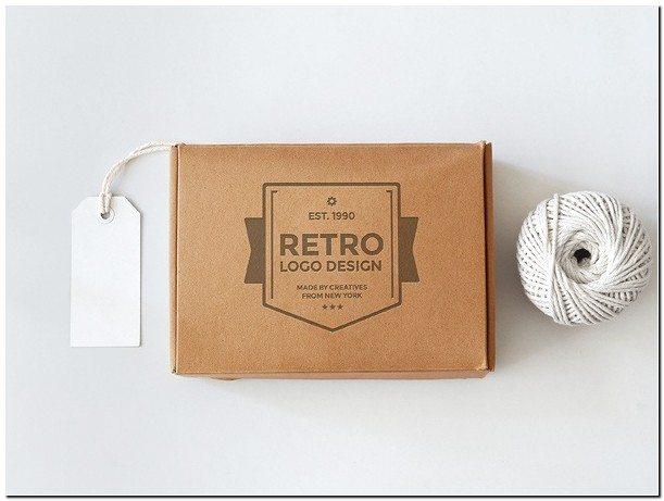 Retro Box Mockup